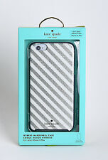 """Kate Spade Hard Case for 5.5"""" iPhone 6 Plus iPhone 6s Plus Diagonal Silver/White"""