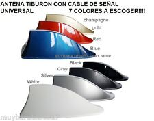 CAR SHARK ANTENNA TIBURON VW FORD PEUGEOT TOYOTA CHEVROLET , 7 COLORES A ESCOGER