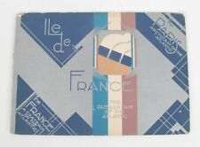 "1930 ILE DE FRANCE DECO FULL COLOR BROCHURE FOR ""THE FRANCE & ""THE PARIS"""