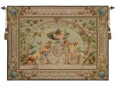 "Beauvais-Fine Art French Tapestry Wall Hanging H 58"" x W 86"" Large-FREE TASSELS"
