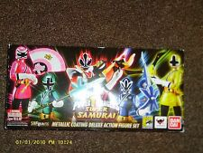 SDCC 2013 Mighty Morphin Power Rangers S.H. Figuarts Super Samurai Metallic Set
