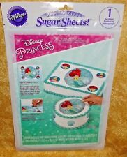 Ariel,Little Mermaid Sugar Sheet, Edible Decorating Paper, Wilton,710-4356,Teal