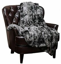 Soft Fuzzy Blanket Faux Fur Cozy Warm Fluffy Beautiful Color Print Throw New