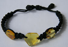 Amber Dominican Bracelet Republic Rock Stone Hand-Made Black Adjustable