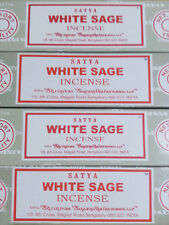 Satya Sai Baba White Sage Nag Champa 100G Grams Smudge Incense Sticks FREE SHIP