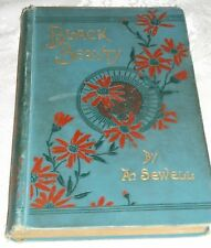 BLACK BEAUTY~THE AUTOBIOGRAPHY OF A HORSE by A. SEWELL 1896 238PG HC