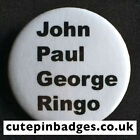 "The Beatles John Paul George Ringo Badge (25mm/1"") Pin Button Rare 1960s Cavern"