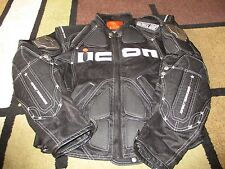 MENS ICON TIMAX JACKET TITANIUM ARMORED MOTORCYCLE JACKET SIZE XL