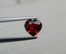 Garnet heart loose gem 6mm