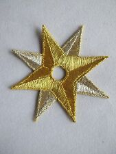 #5013 Golden,Silver Star Embroidery Iron On Applique Patch