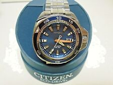 Citizen Automatic Mens Grand Touring 300 Meters Blue Dial Watch NB1031-53L