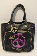 Betsey Johnson AIR Betseyville Carry On Bag Shoulder Purse Black