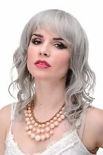 Wavy Wig Grey Grey light Wetlook Fringe approx. 19 11/16in 5019-51