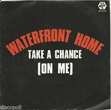 """WATERFRONT HOME - Take a chance (on me) - VINYL 7"""" 45 ITALY 1985 NEAR MINT/VG+"""