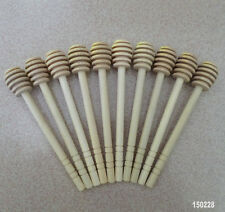 25PCS Wooden Honey Dipper Stick Drizzle Server Muddles Scoop For Cooking Kitchen