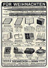 F. Soennecken Bonn Soennecken`s Goldfüllfedern u.a. Historische Annonce von 1908