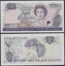 New Zealand 2 Dollars ND(1981-1992) P170b AU/UNC