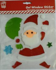 Christmas Gel Window Sticker Reusable Mirror Glass Xmas Decoration. Santa