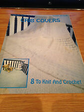 VINTAGE Leisure Arts Crib Covers 8 to Knit and Crochet Leaflet #126