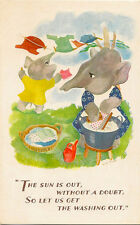 ELEPHANTS:  The sun is out without a doubt,....ENID BURREL? -SALMON