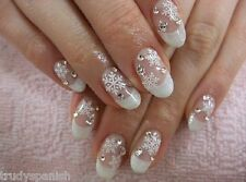 Christmas Matte White Snowflakes Nail Art Stickers Decals Transfers (55)