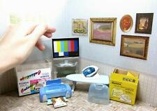 Re-ment Miniature Color printer ,TV set and Iron with Iron Ironing board