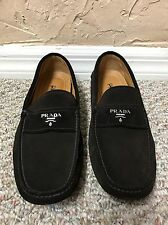 NEW PRADA SUEDE LOGO LOAFERS DRIVERS MEN'S SHOES UK 7 US 8 100% AUTHENTIC I