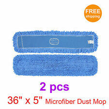 "36"" x 5"" SunnyCare #25362-2pc Blue Microfiber Dust Mop 2 pc"