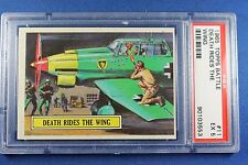 1965 Topps Battle Cards - #11 Death Rides The Wing - PSA Ex 5