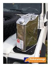 Kanister aus Edelstahl, 20 Liter, rostfrei, lebensmittelecht, mit Ausgießer