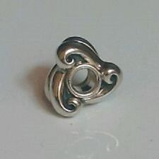 Authentic Sterling silver  TROLLBEADS ROLLING WAVES.  New & retired