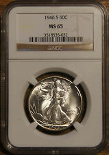 1946-S WALKING LIBERTY HALF DOLLAR-GRADED MS-65 BY NGC --#3518535-032