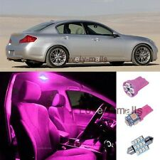 6Pcs Pink Dome/Door Lights Interior LED Package Kit For Infiniti G35 2003-2008 T