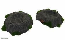 Rural Battles: Large Resin Craters [x2] Painted (Wargames Scenery/Terrain)