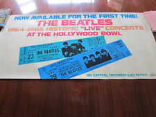 BEATLES Hollywood Bowl original 1977 promo poster 16x38