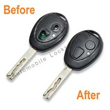 For Mg Rover 75 2 button remote key fob REPAIR SERVICE complete refurbishment