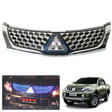 LED Blue Front Grill Fit Mitsubishi L200 Triton Pickup 2015-2016
