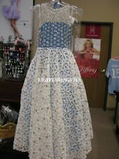 Rachel Allan Perfect Angels 1574 Turquoise White  Girls Pageant Gown Dress sz 12