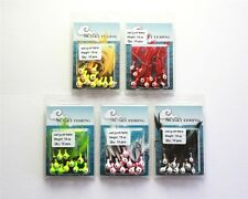 50 1/8oz NEW Feather Crappie Jigs Fishing Lures Hooks 5 Colors Lot