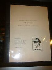 1982 PITTSBURGH PIRATES  OFF -SEASON CONDITIONING PROGRAM 16 PAGES RARE