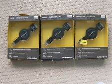 LOT OF 3 Scosche - SleekSYNC 2.7' Retractable USB 2.0 Cable - Black IPUSBKR