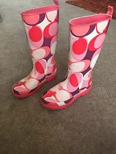 COACH++GUC++RUBBER BOOTS SZ 6 7 8 PINK MULTI PAISLEY LOGO++ READY FOR WET & SNOW