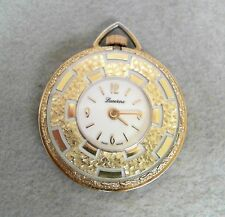 Ladies Gold Tone Lucerne Pendant Watch Swiss * Working* Running *