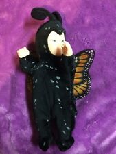 Newborn Baby butterfly monarch plush doll by Anna Geddes RARE COLLECTIBLE 9""