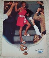 1982 ad page - Scholl Exercise sandals shoes Stage Door Girl Dream PRINT ADVERT