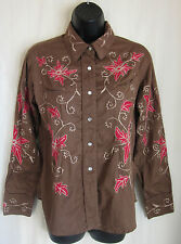TRU WEST ROCKMOUNT RANCH WEAR EMBROIDERED COWGIRL WESTERN SHIRT L LARGE