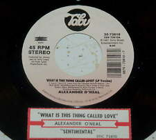 Alexander O'Neal 45 What Is This Thing Called Love / Sentimental