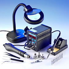 X-TRONIC 6040-XTS  2 IN 1 - ESD SAFE - HOT AIR REWORK SOLDERING IRON STATION