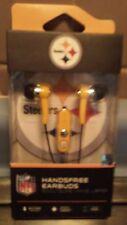 NFL Pittsburgh Steelers Audible Headphones Earbuds W/Microphone earphones