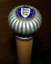 1820 Enamelled Coin Token States Jersey Isle Vtg Old Cabbage Walking Stick Cane